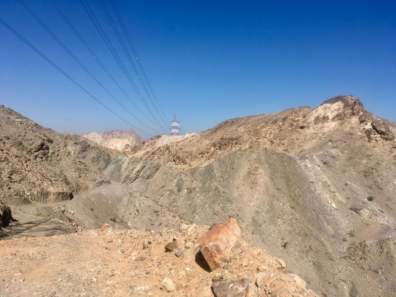 The Trans Hajar route travels through hills like this.