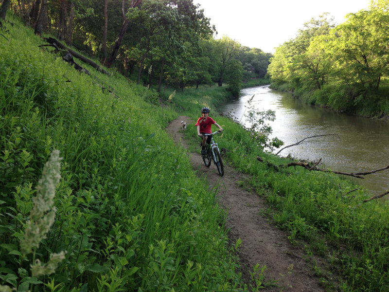 The new Riverside Trail is smooth and loads of fun.