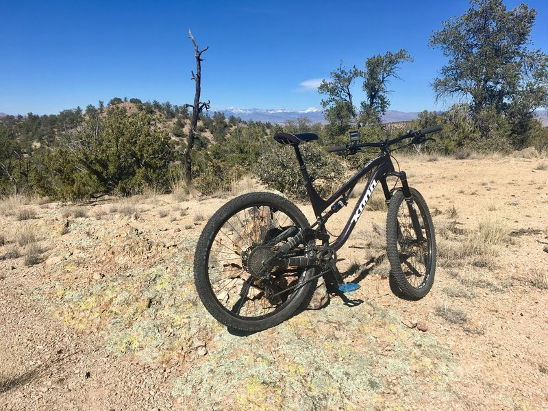 Enjoy beautiful vistas of the snow-capped Mogollon range as you ride this section of the Burro Norte.