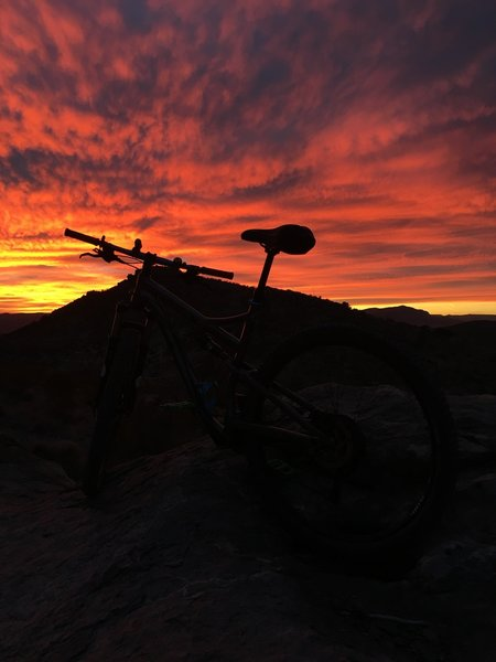 Enjoy magnificent sunsets such as this in the hills outside Doña Ana.
