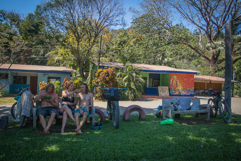 Playa Islita is a colorful, bright, artsy town with a lush green park that's perfect for watermelon breaks.