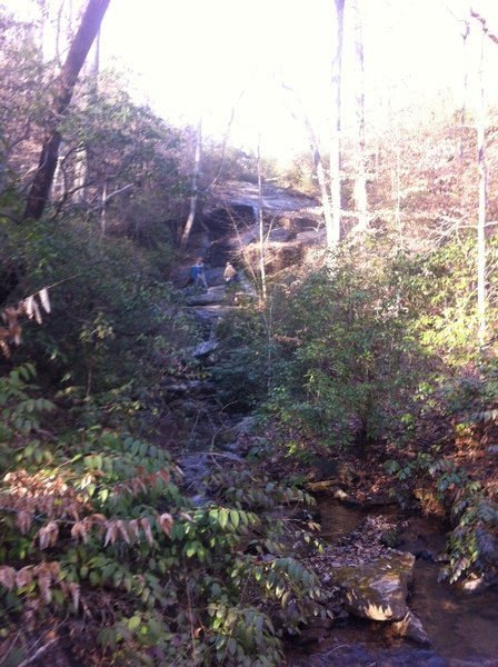 Take the short side trail up to Nancytown Falls.