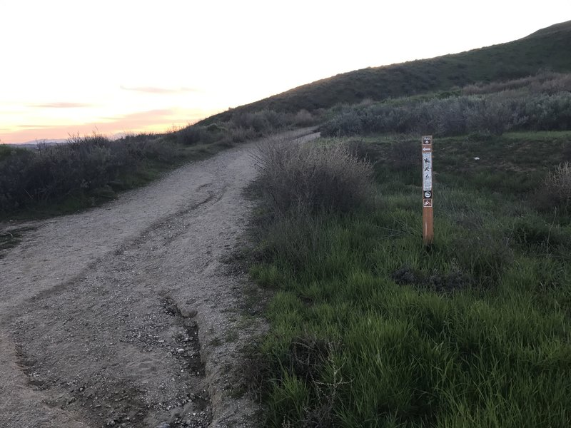 Look for this sign at the entry point of the Dump Trail.
