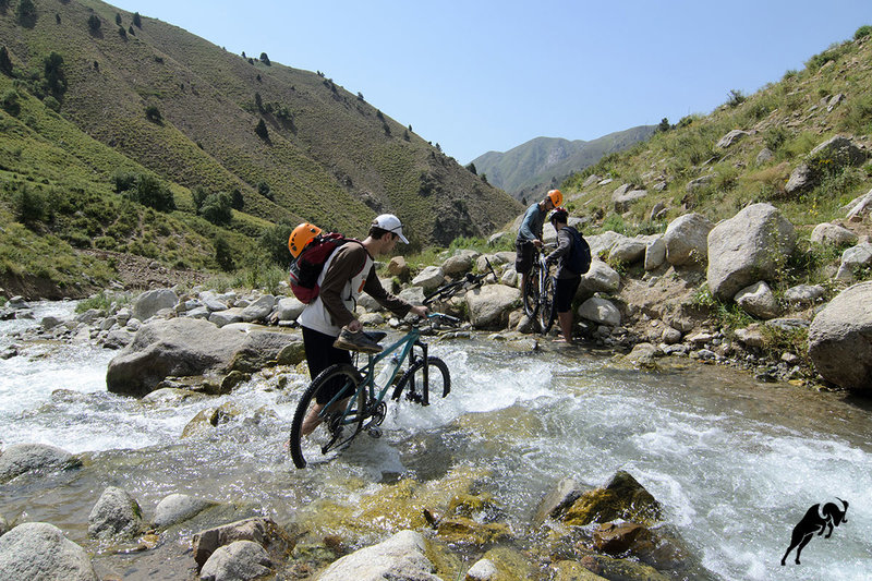Crossing the river in Yagnob is no easy feat!