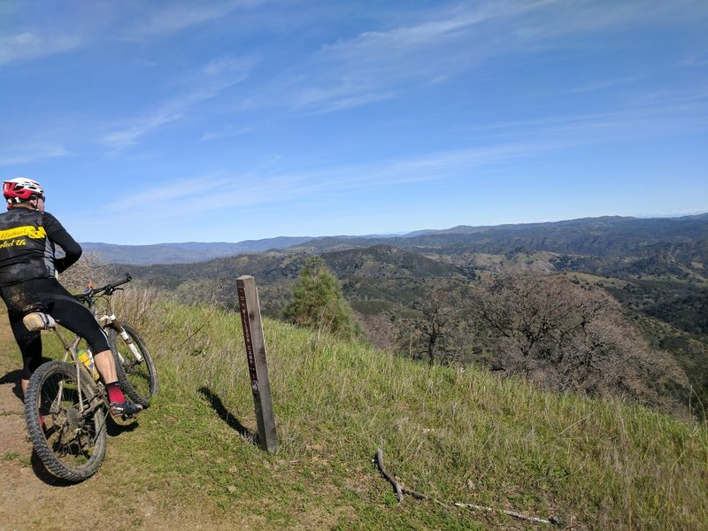 Be sure to stop and enjoy great views of Henry W. Coe State Park along your ride.