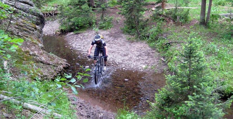 Navigate this water-crossing (among others) on the Decoster Trail.