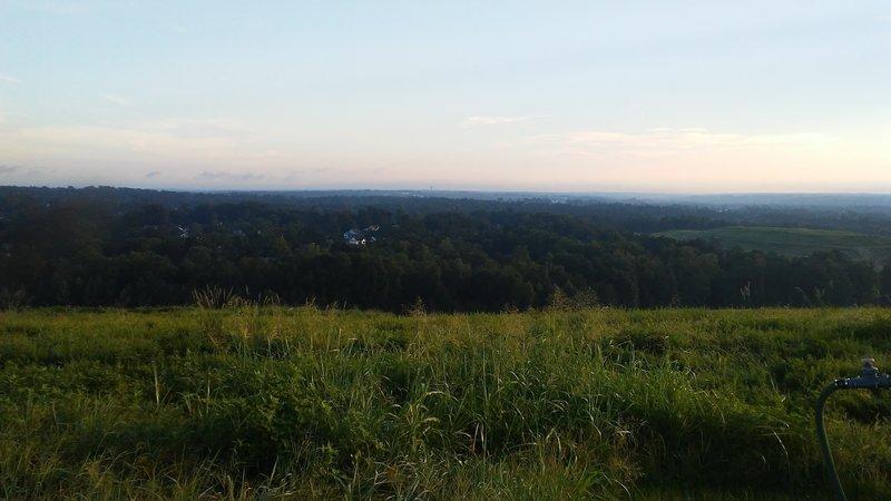 Atop the main landfill hill, enjoy spectacular sunset views.