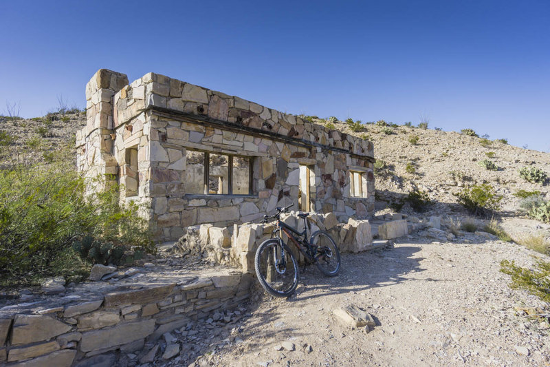 Take a peek through the ruins of a building near the Hot Springs.
