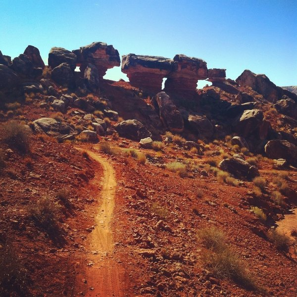 Enjoy cool rock formations on this trail!