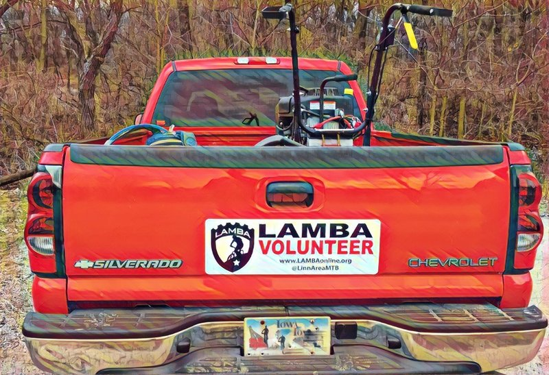 Kudos to these folks for bringing great trails to the area... Linn Area Mountain Bike Association (LAMBA).