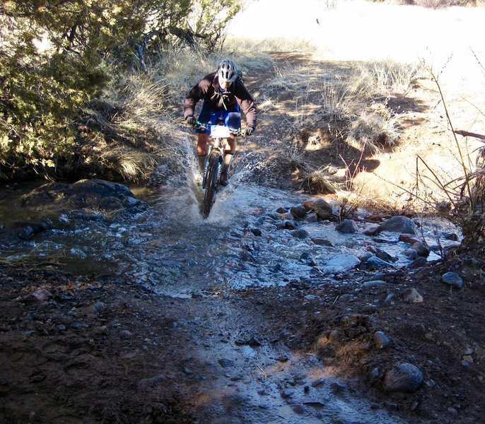 This was one of many creek crossings encountered during the 2017 Tommyknocker.