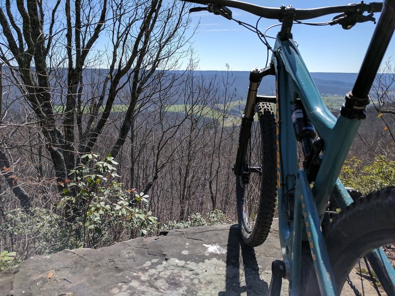 Enjoy this overlook from a bluff along the Sewanee Perimeter Loop.