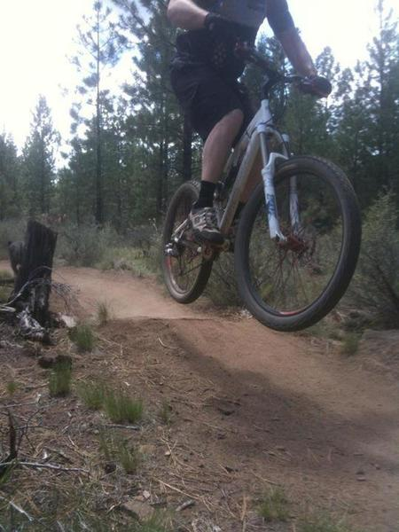 Marvin's Garden is home to great little rock jumps like this one.