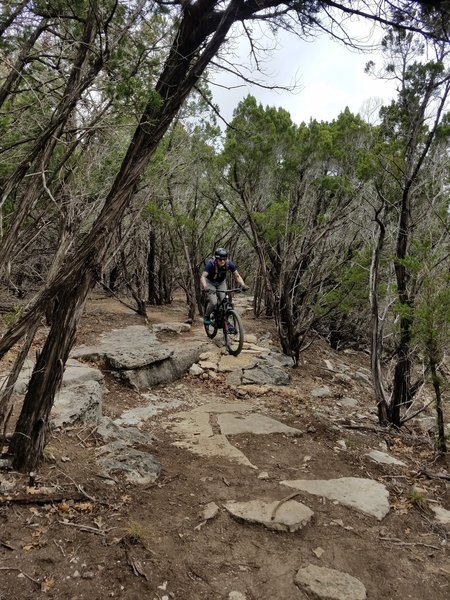 Navigate rock gardens galore on the Juniper Ridge Trail.