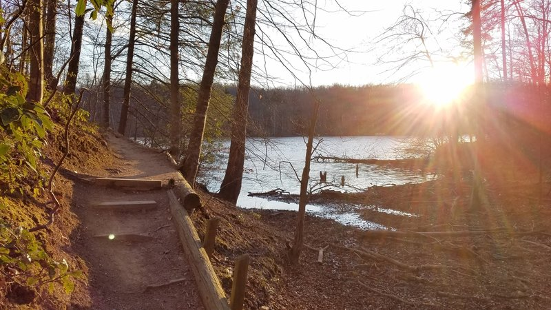 Enjoy great views of the reservoir along the Bull Run Occoquan Trail.