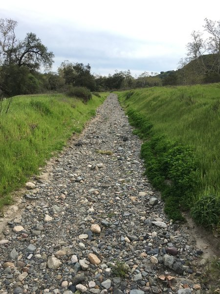 The Arroyo Trabuco Trail is a little more technical here, but still very doable.