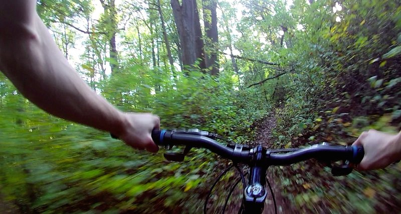 There's really nice flow on this part of the Boone Trail.