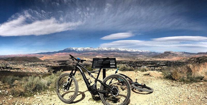 Enjoy amazing views along Goulds Rim.