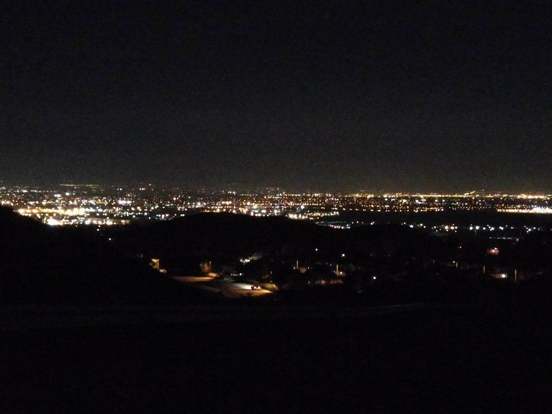 Chino Hills State Park offers a great view of the city after dark.