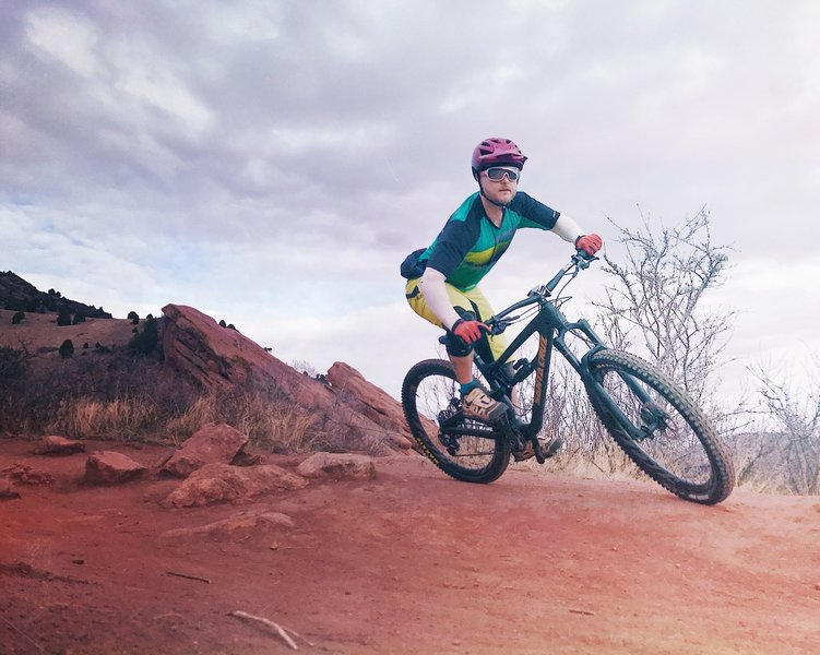 Red Rocks Trail can get very busy on the weekends. But if you can catch it during the week, there's lots of flow and gorgeous scenery to be had.