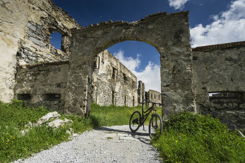 The Colle di Tenda route passes through the barracks for Fort Central.