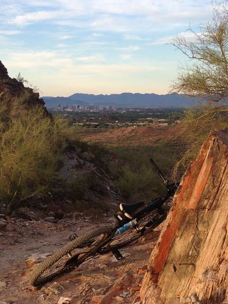 Trail mornings offer gorgeous views of the city, and even better riding.