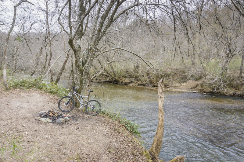 Fording the Etowah River may require a swim!