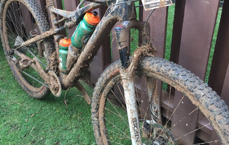 Maui can be wet and muddy during the winter!