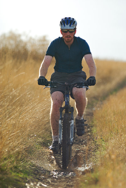 Get out and enjoy a fall ride on the Whitetail Trail at Bennington Lake.