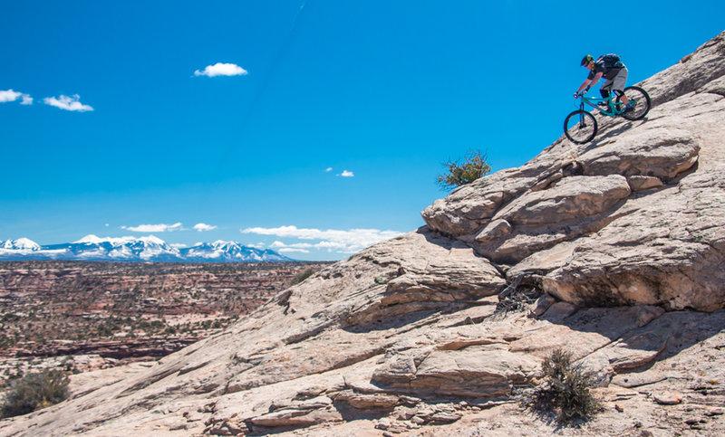 The slickrock on Navajo Rocks is as fun as it gets!