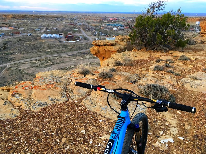 Enjoy nice views of town from high on the trail.