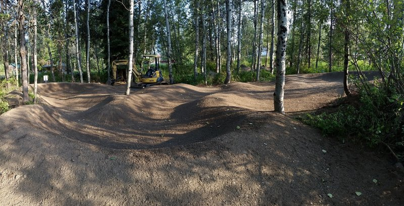 The pumptrack is ready to rock!