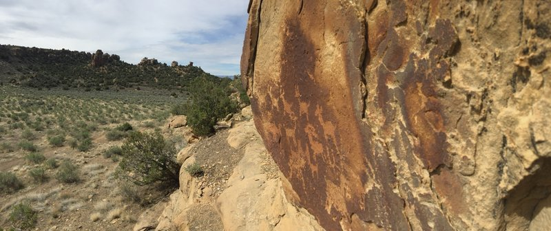 Petroglyphs at the trail intersection - make sure to be respectful!