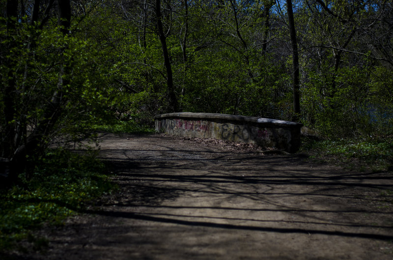 A small bridge takes you over a stream that flows into the Brandywine