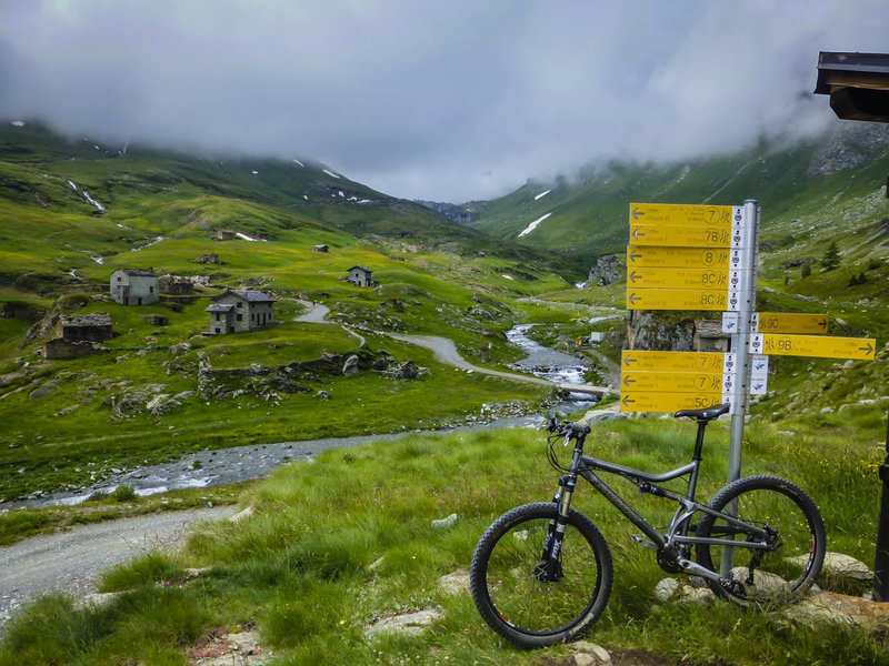 The ride up from Champorcher is long and difficult, but there's a beautiful valley at the top.