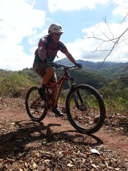 This section of unchallenging singletrack allows riders to enjoy the views as they pedal.
