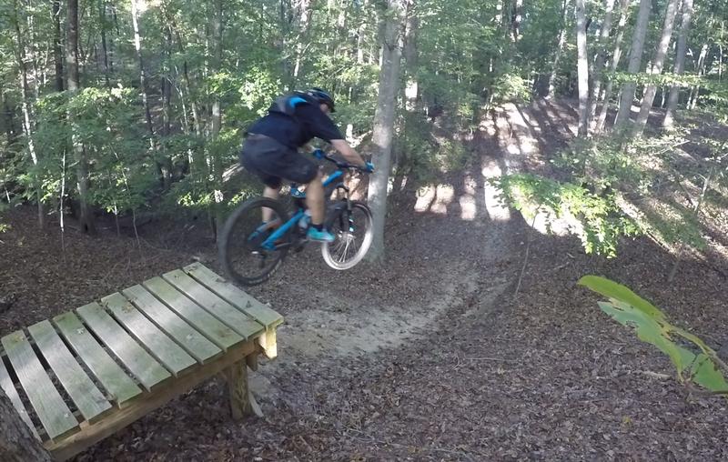 The big drop on the Black trail.