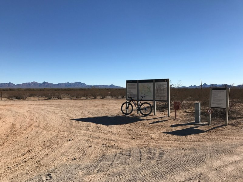 Bates Well Road at the Boundary of Organ Pipe Cactus National Monument
