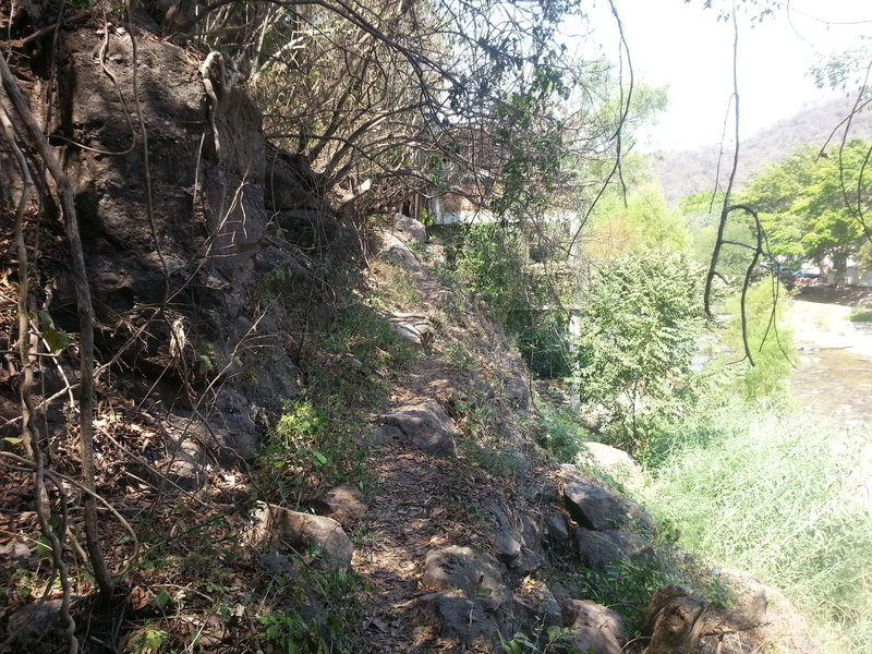 This tight and narrow section requires a lot of focus to clean all the rocks and not end up off the trail.