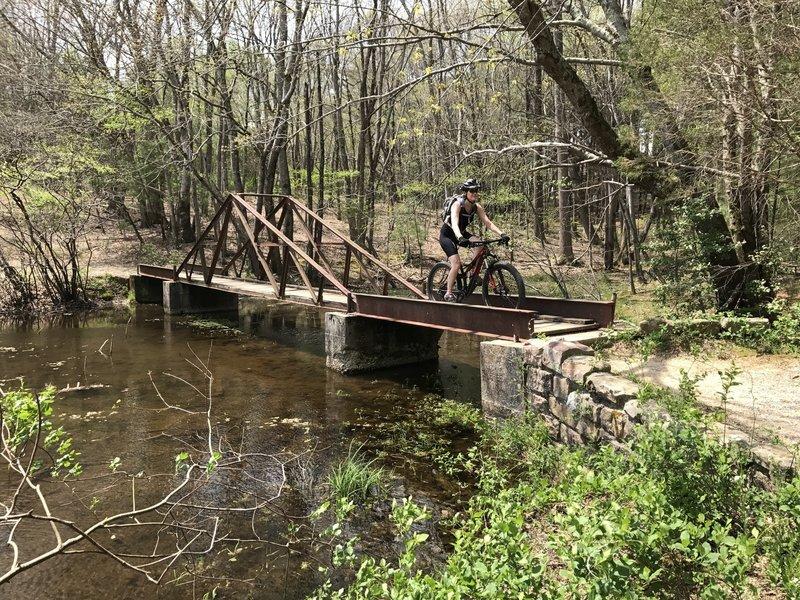 "A cute ""railroad-looking"" bridge on the north shore of Lake Cheston."