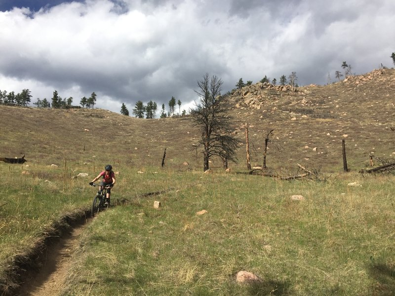 Riding in the barren landscape on Trail #842 is surreal.