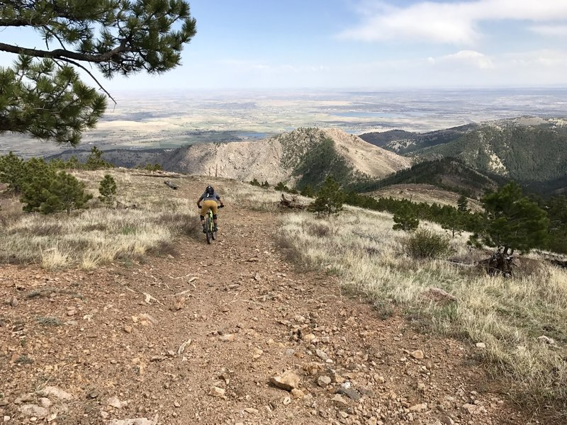 Descending Road #286H with awesome views out into the plains.