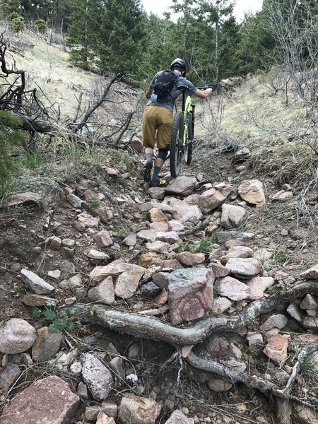 Sections of Cavanaugh's Trail require walking your bike due to a very steep and washed out trail.