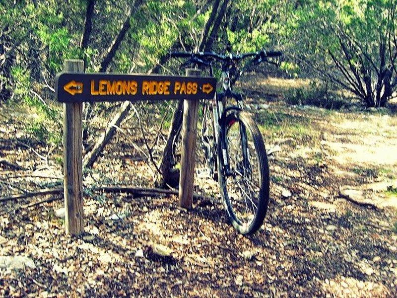 Lemons Ridge trail sign