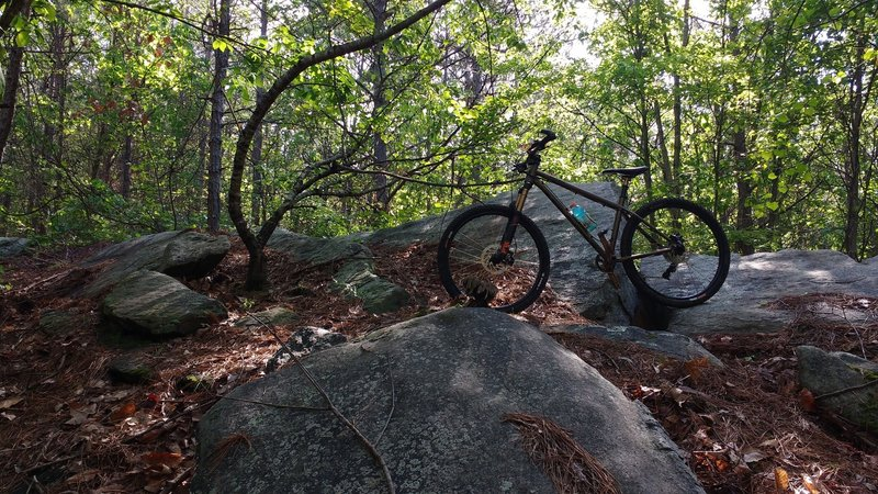 Interesting outcrop of rocks beside the trail.