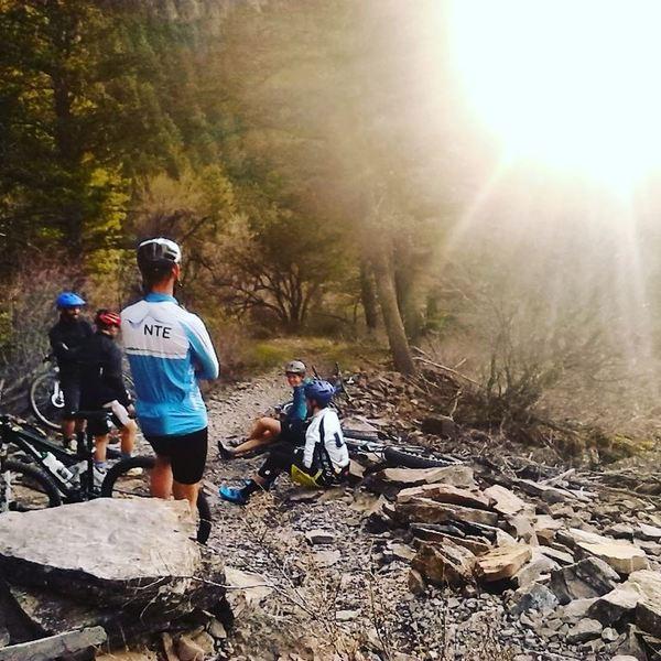 Taking a break along the Spring Hollow Trail, Logan UT.