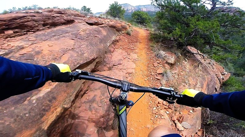 Taking in the views of the Deadman Pass trail on a beautiful day in Sedona, AZ.