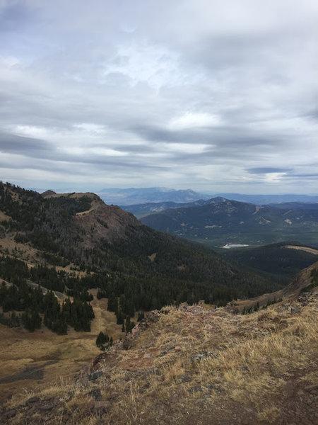 Looking back down on Hyalite resevoir.