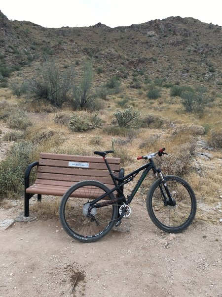 A well placed bench and a place to rest on the Ford Canyon Trail.