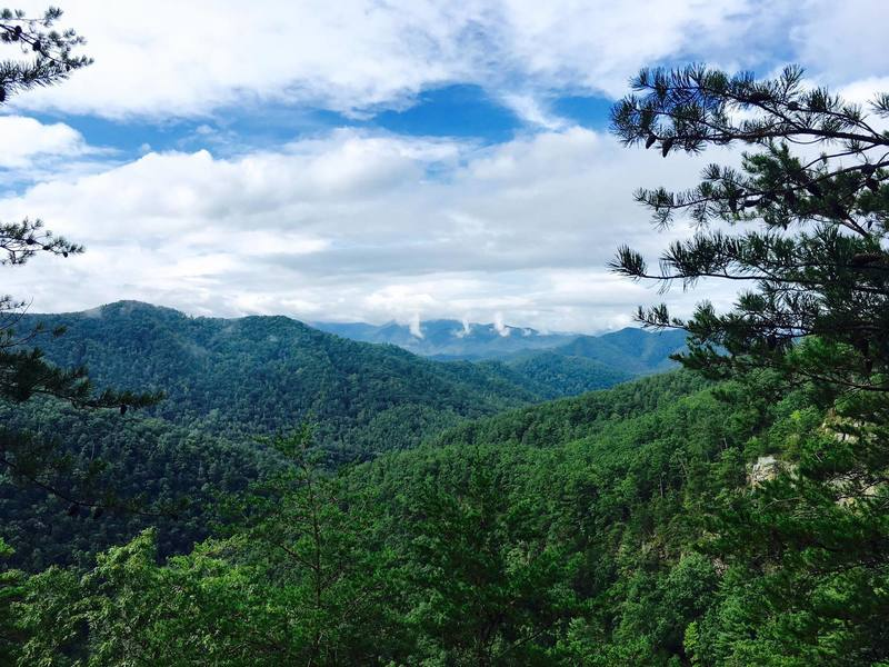 Views of the mountain on the North Carolina and Tennessee border.